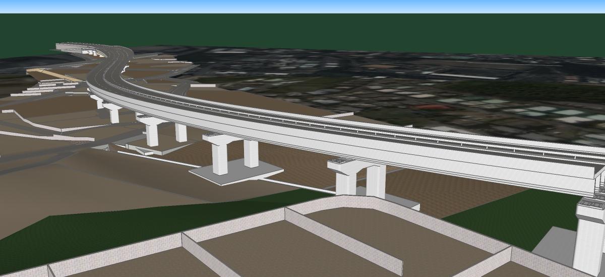 北丘高架橋下部工工事