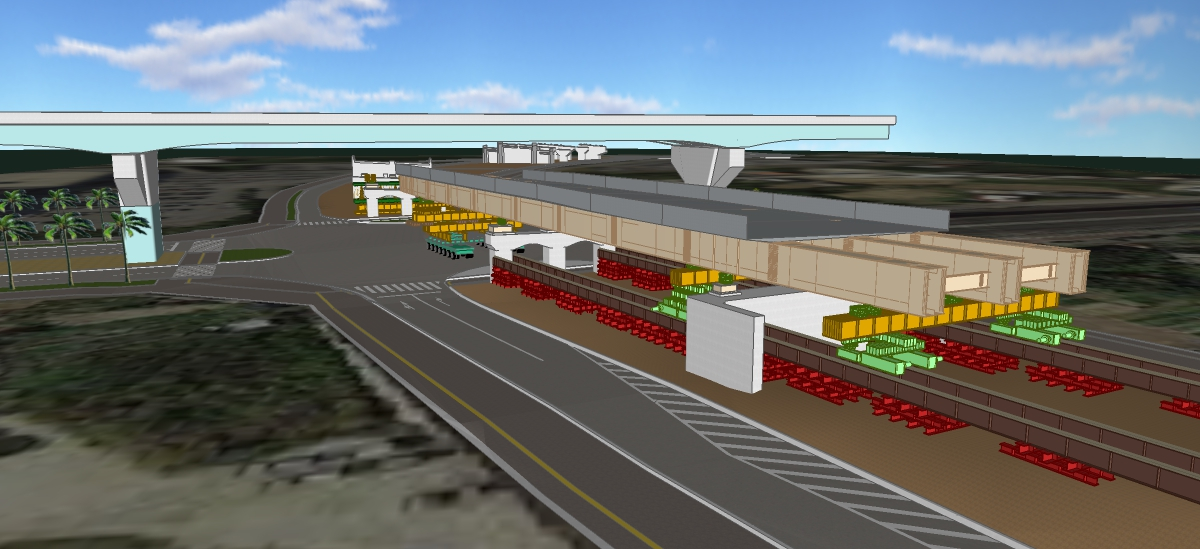 北丘高架橋空港自動車道交差部上部工工事
