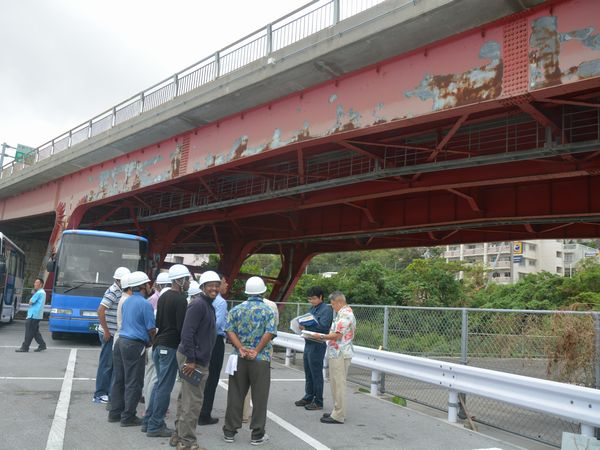 沖縄県代表的な工事現場見学