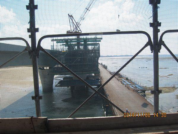 臨港道路海側橋梁上部工工事見学